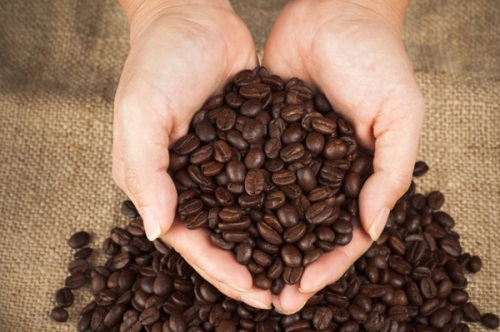 coffee-beans-and-womans-hands