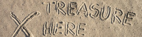 Sign on sand