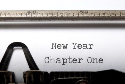 New year chapter one, new start concept